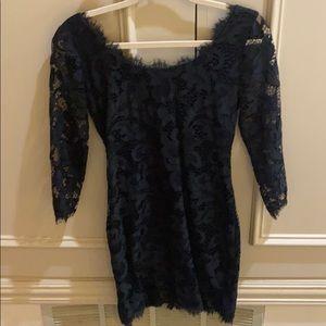 DVF Zarita Black Lace Dress